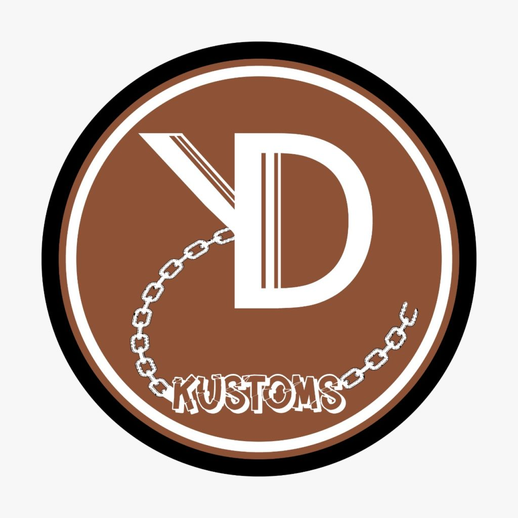 THE OFFICIAL LOGO FOR KD KUSTOMS, A CUSTOM CHAIN AND JEWELLERY DESIGNER FROM SOUTH AFRICA